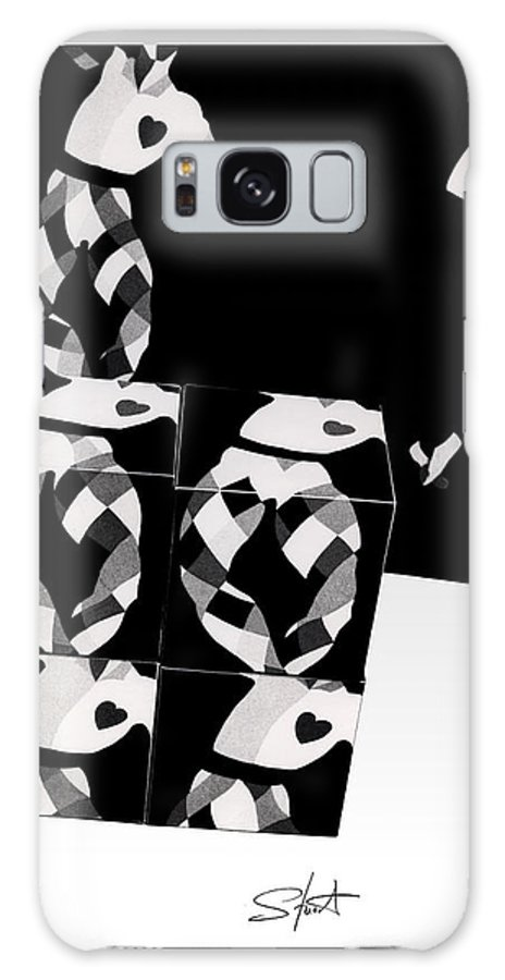 Dance Galaxy S8 Case featuring the photograph Bauhaus Ballet 2 The Cubist Harlequin by Charles Stuart