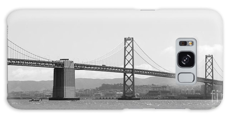 San Francisco Galaxy S8 Case featuring the photograph Bay Bridge In Black And White by Carol Groenen
