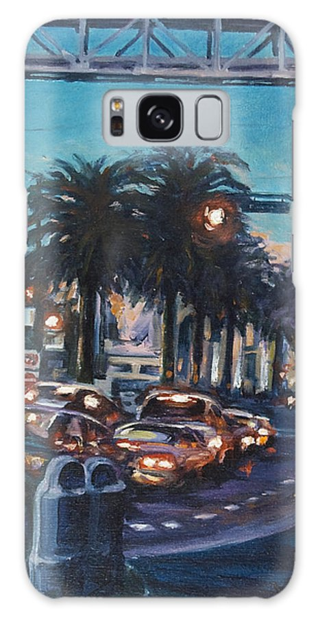 City Scape Galaxy Case featuring the painting Bay Bridge by Rick Nederlof