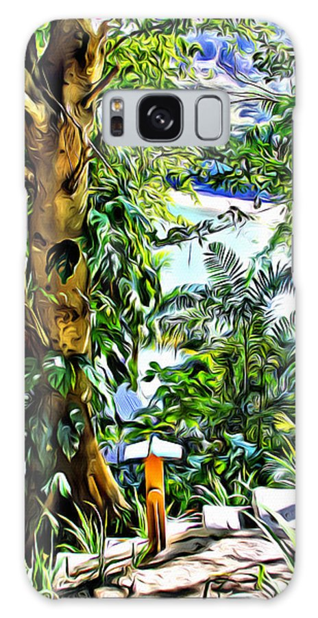 Bay Galaxy S8 Case featuring the digital art Bay View Tobago by Anthony C Chen