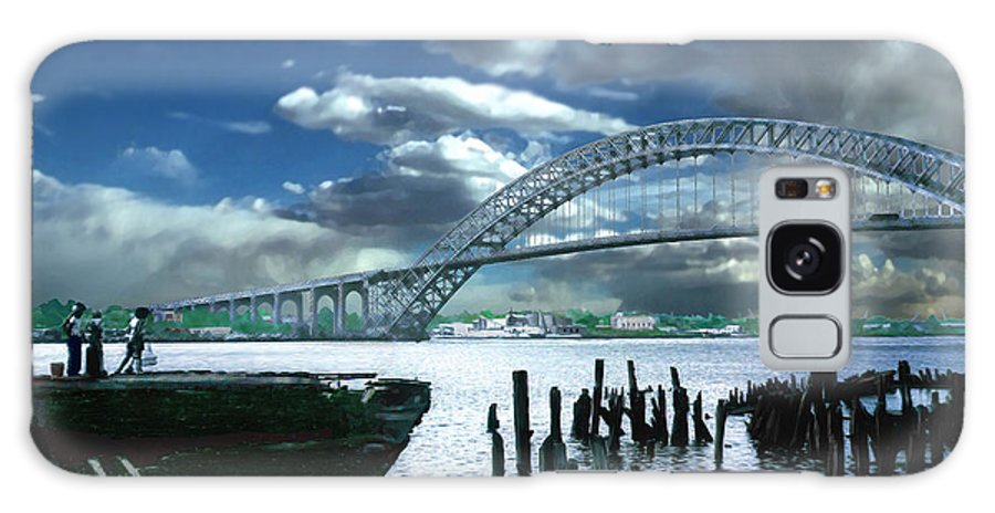 Seascape Galaxy Case featuring the photograph Bayonne Bridge by Steve Karol