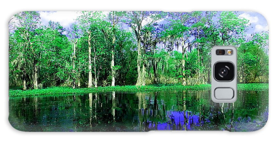 Bayou Galaxy S8 Case featuring the photograph Bayou Reflections by Gina Welch
