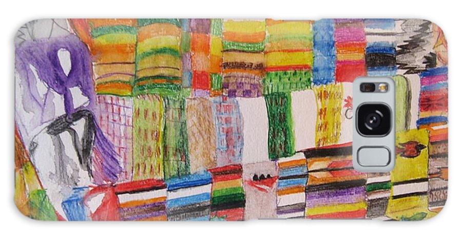 Bright Colors Galaxy S8 Case featuring the painting Bazaar Sabado - Gifted by Judith Espinoza