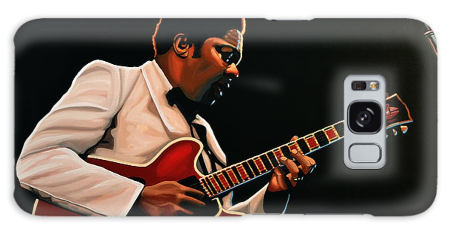 Bb King Galaxy S8 Case featuring the painting B. B. King by Paul Meijering