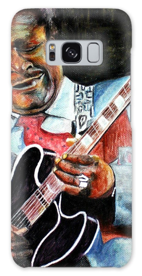 Bbking Galaxy Case featuring the painting Bbking by Frances Marino