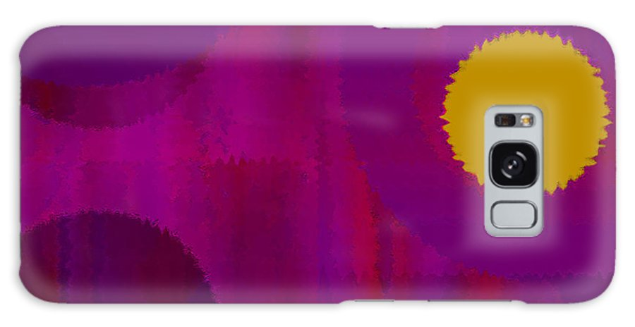 Abstract Galaxy Case featuring the digital art Be Happy II by Ruth Palmer