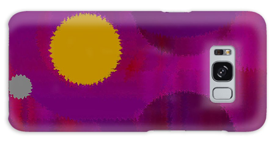 Abstract Galaxy Case featuring the digital art Be Happy by Ruth Palmer
