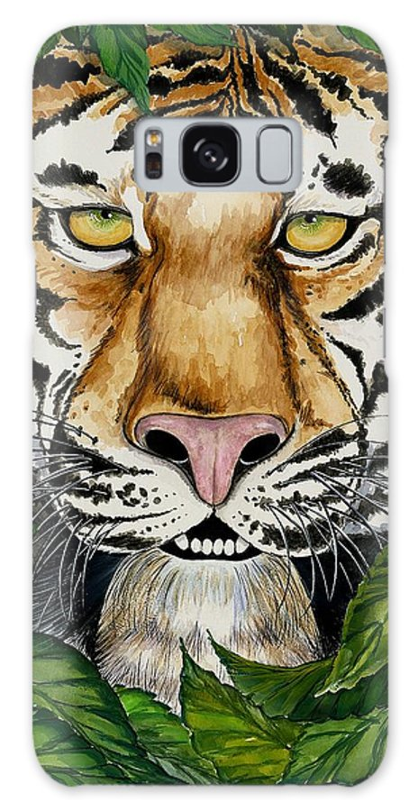 Art Galaxy S8 Case featuring the painting Be Like A Tiger by Carol Sabo
