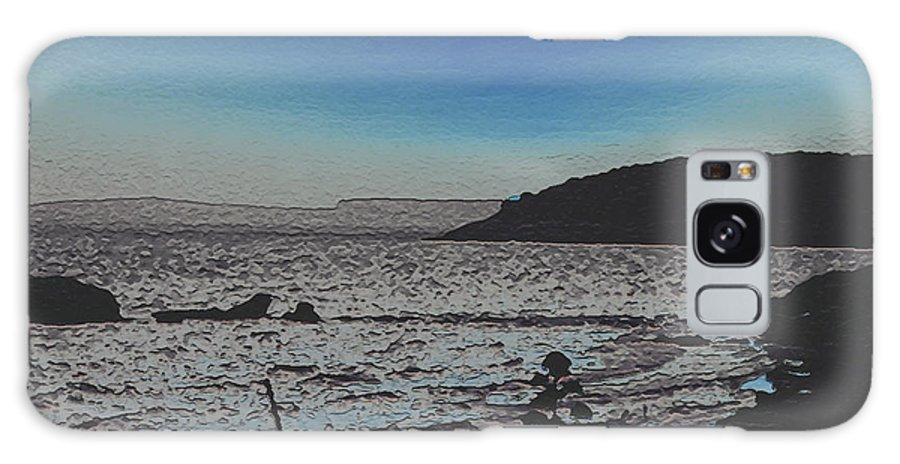 Beach Galaxy S8 Case featuring the photograph Beach At Twilight by Dee Flouton