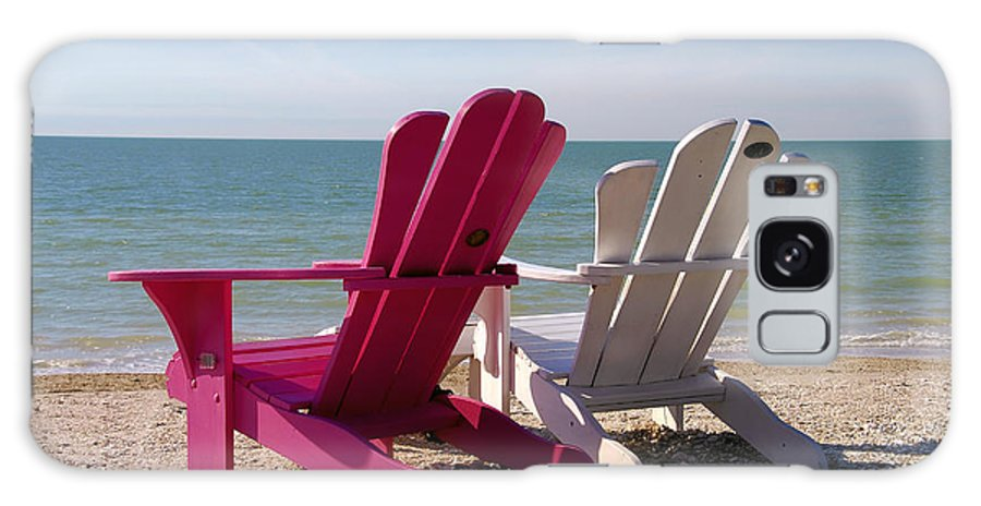 Beach Chairs Galaxy S8 Case featuring the photograph Beach Chairs by David Lee Thompson