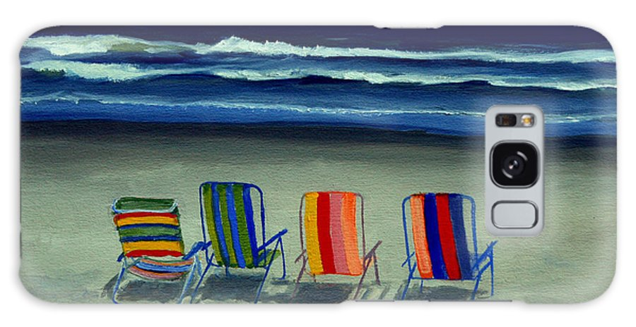Beach Galaxy Case featuring the painting Beach Chairs by Paul Walsh