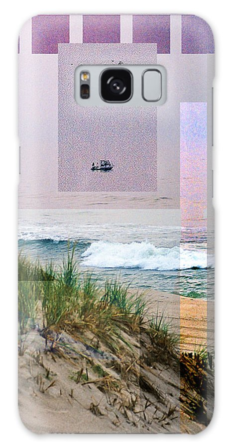 Landscape Galaxy Case featuring the digital art Beach Collage 3 by Steve Karol