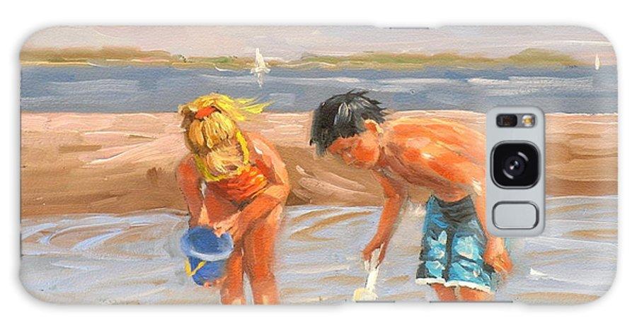 Beach Galaxy Case featuring the painting Beach Pals by Laura Lee Zanghetti