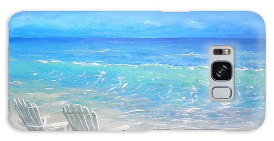 Beach Galaxy Case featuring the painting Beach Relaxation by Paul Emig