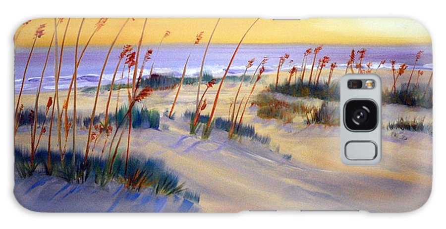 Beach Galaxy S8 Case featuring the painting Beach Sunrise by Phil Burton
