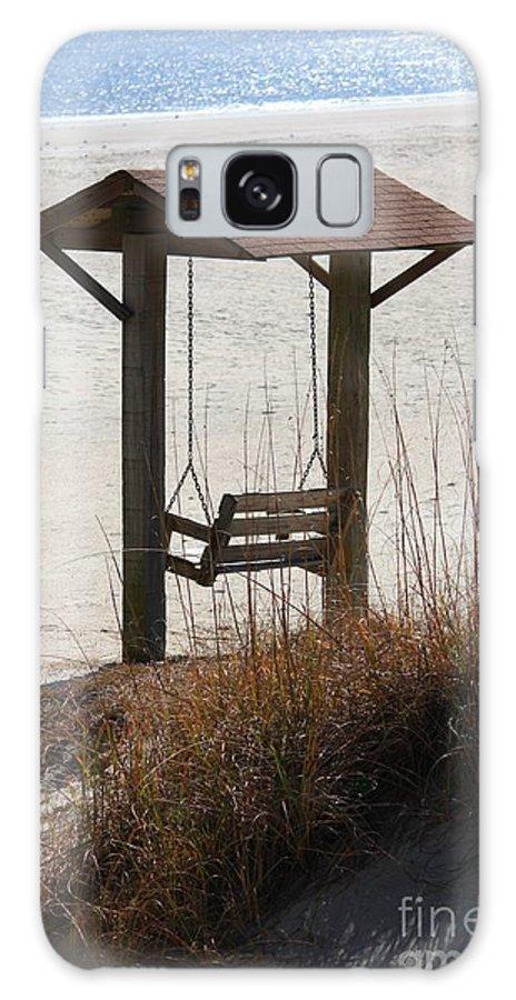 Beach Galaxy S8 Case featuring the photograph Beach Swing by Carol Groenen