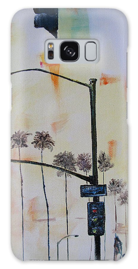 Beach Galaxy S8 Case featuring the painting Beach Traffic - Sold by Gary Smith