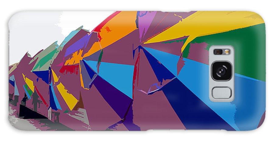 Beach Umbrellas Galaxy S8 Case featuring the painting Beach Umbrella Row by David Lee Thompson