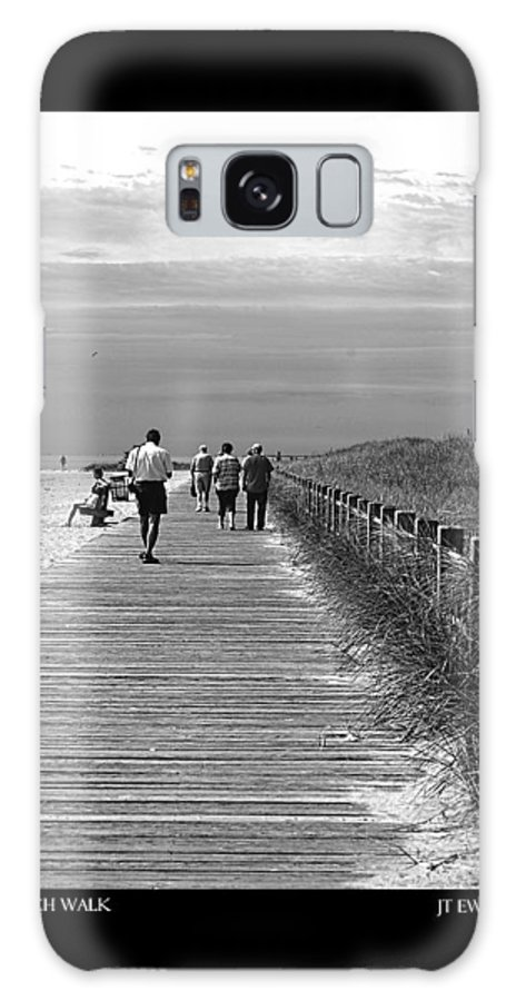 Boardwalk Galaxy S8 Case featuring the photograph Beach Walk by J Todd