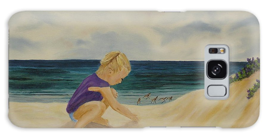 Child Galaxy S8 Case featuring the painting Beachcomber by Susan Kubes