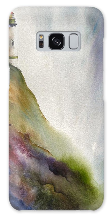 Lighthouse Galaxy S8 Case featuring the painting Beacon by Karen Stark