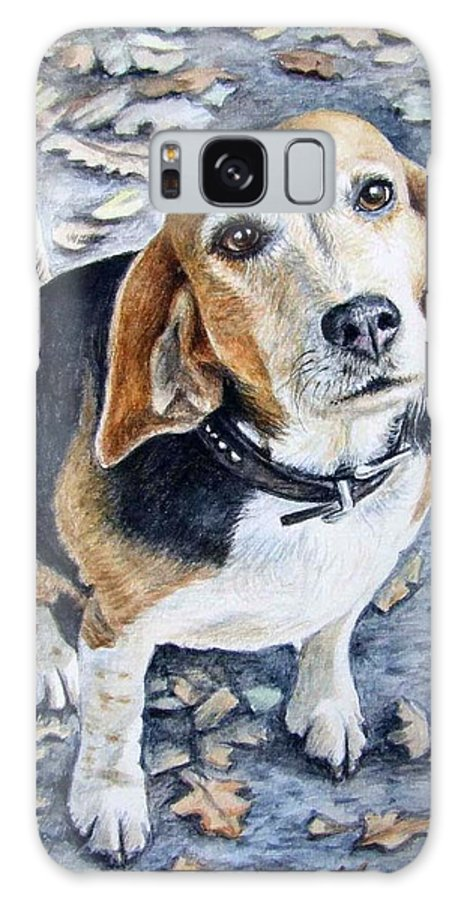 Dog Galaxy S8 Case featuring the painting Beagle Nanni by Nicole Zeug