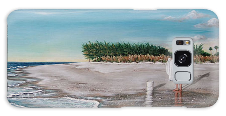 Beach Galaxy Case featuring the painting Bean Point by Joan Garcia
