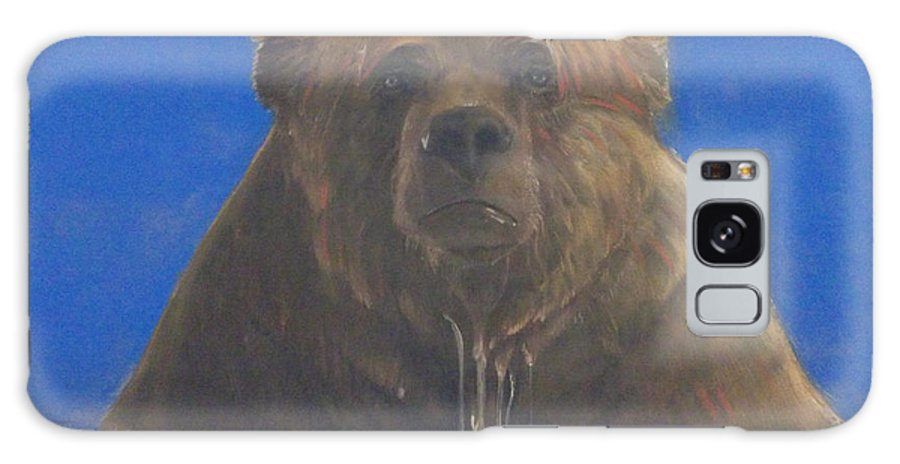 Bear On Canvas Galaxy S8 Case featuring the painting Bear by Nicole Shaw