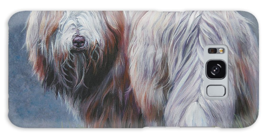 Bearded Collie Galaxy S8 Case featuring the painting Bearded Collie In Field by Lee Ann Shepard