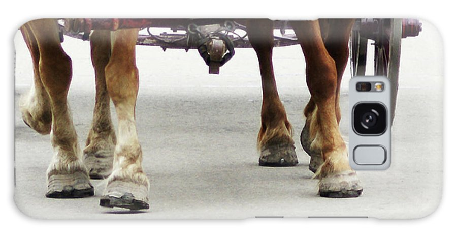 Horse Galaxy S8 Case featuring the photograph Beast Of Burden by Linda Shafer