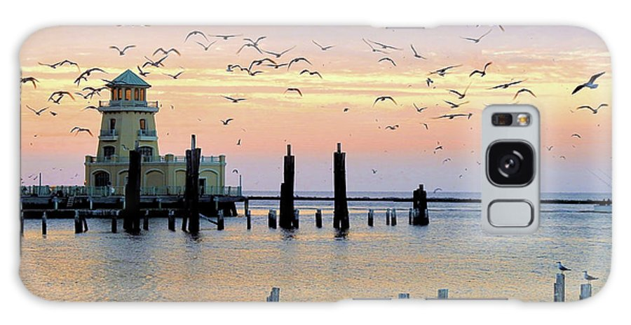 Marina-lighthouse-beau Rivage Galaxy S8 Case featuring the photograph Beau Rivage Marina And Lighthouse by Scott Cameron