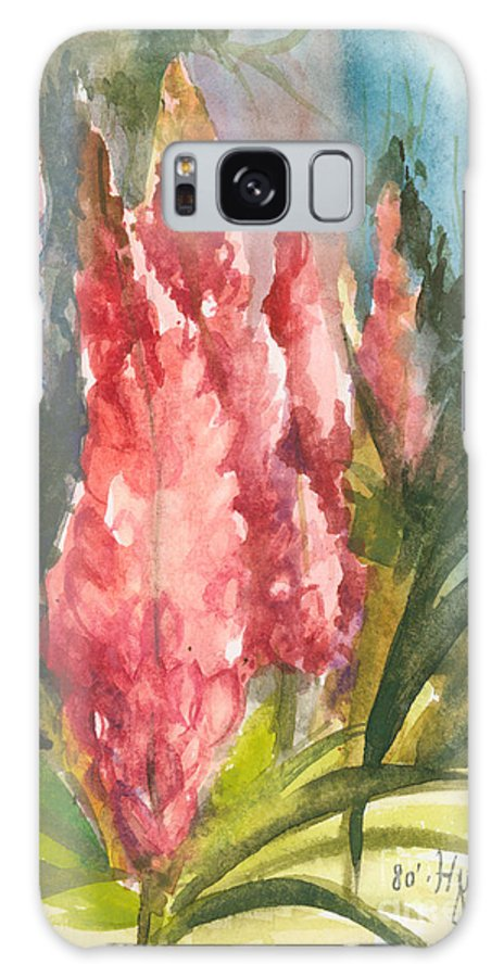 Flowers Galaxy S8 Case featuring the painting Beauties - Note Card by Elisabeta Hermann