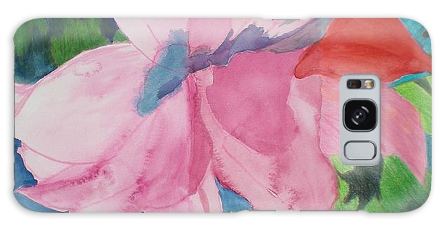 Flower Galaxy Case featuring the painting Beautiful Azalea by Hal Newhouser