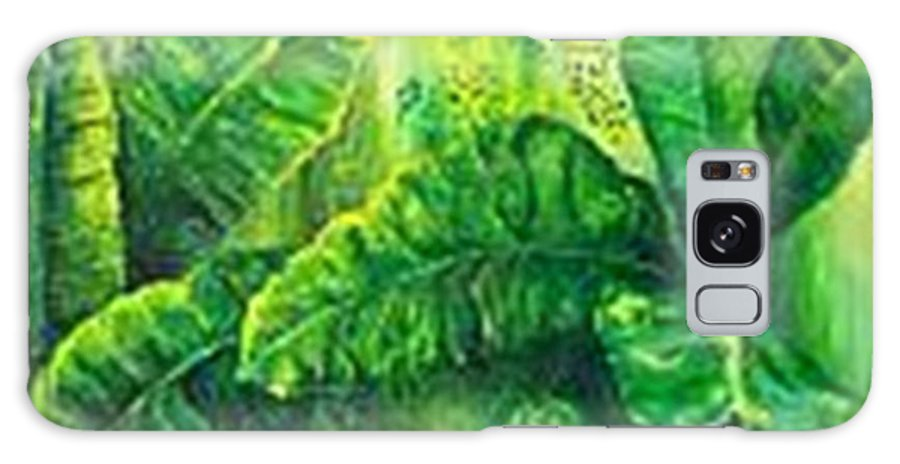 Galaxy Case featuring the painting Beautiful Banana Leaves by Carol P Kingsley