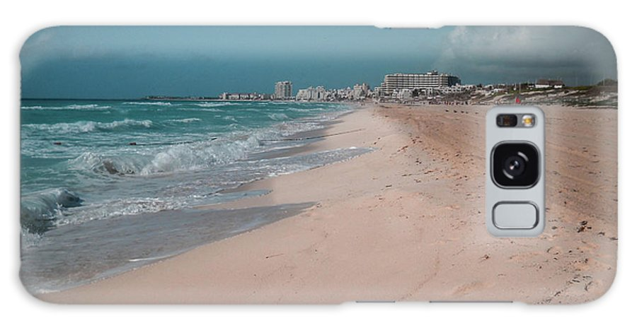 Beach Galaxy Case featuring the digital art Beautiful Beach In Cancun, Mexico by Nicolas Gabriel Gonzalez