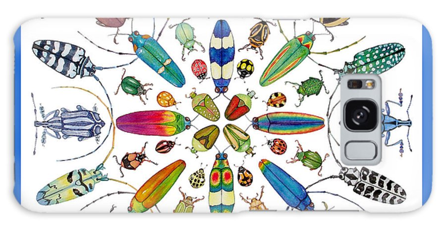 Insects Galaxy Case featuring the painting Beautiful Beetles by Lucy Arnold