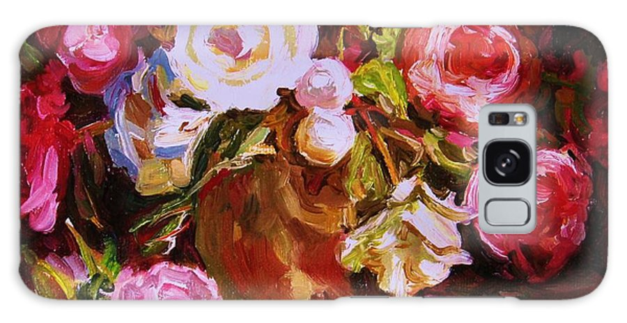 Roses Galaxy S8 Case featuring the painting Beautiful Bouquet by Carole Spandau