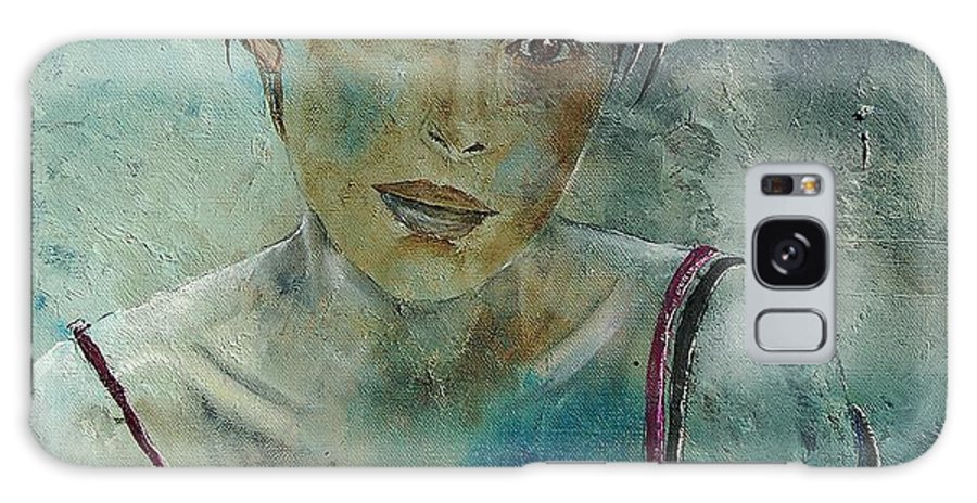 Girl Galaxy S8 Case featuring the painting Beautiful Face by Pol Ledent