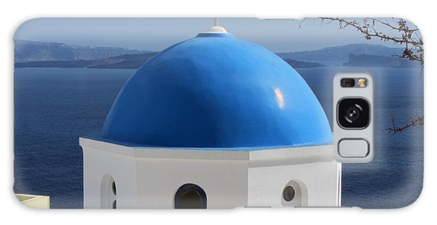 Santorini Galaxy S8 Case featuring the photograph Beautiful In Blue by Michelli Rios-Allen