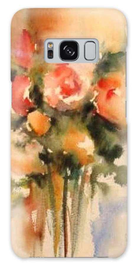 Floral Galaxy S8 Case featuring the painting Beautiful Roses by Vesna Grundler