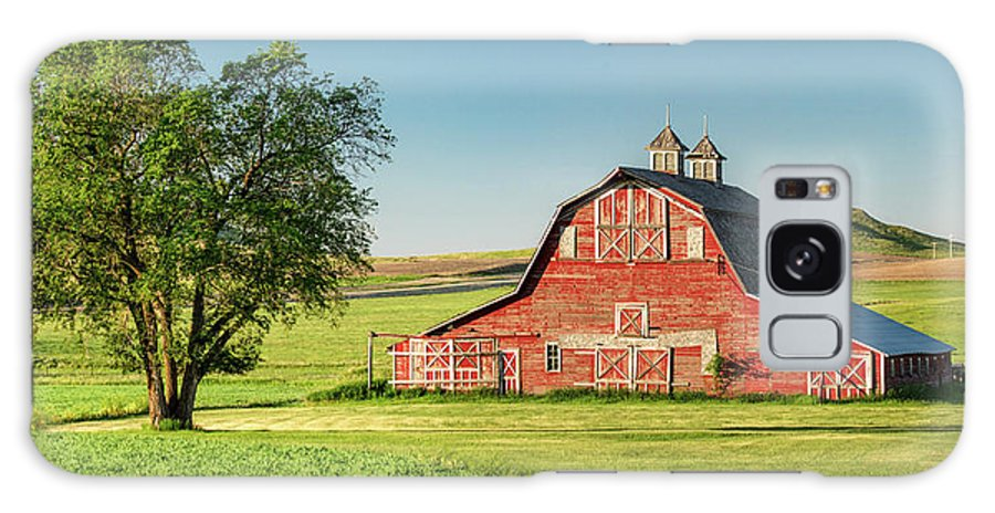 Red Galaxy S8 Case featuring the photograph Beautiful Rural Morning by Todd Klassy