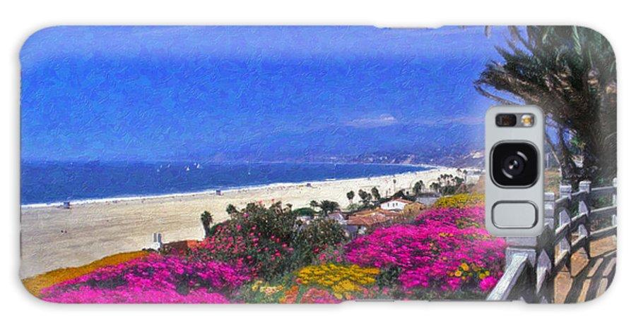 Beautiful Santa Monica Ca Palisades Park View Malibu Point Dume Galaxy S8 Case featuring the photograph Beautiful Santa Monica Ca by David Zanzinger