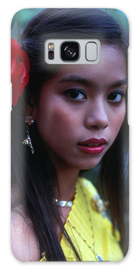 Girl Galaxy Case featuring the photograph Beautiful Thai Girl by Carl Purcell
