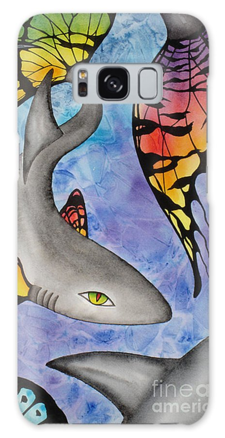 Surreal Galaxy Case featuring the painting Beauty In The Beasts by Lucy Arnold
