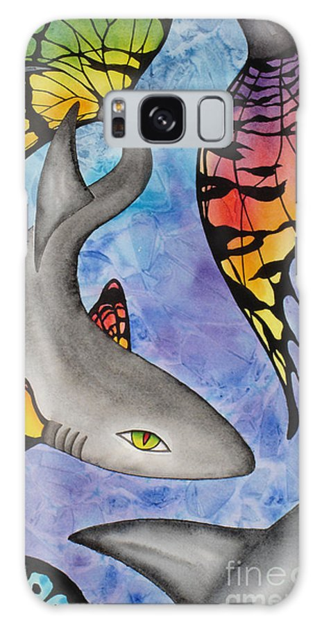 Surreal Galaxy S8 Case featuring the painting Beauty In The Beasts by Lucy Arnold