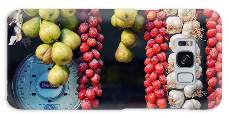 Still Life Galaxy S8 Case featuring the photograph Beauty In Tomatoes Garlic And Pears by Silvia Ganora