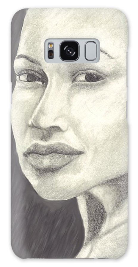 Woman Galaxy S8 Case featuring the drawing Beauty by Jean Haynes
