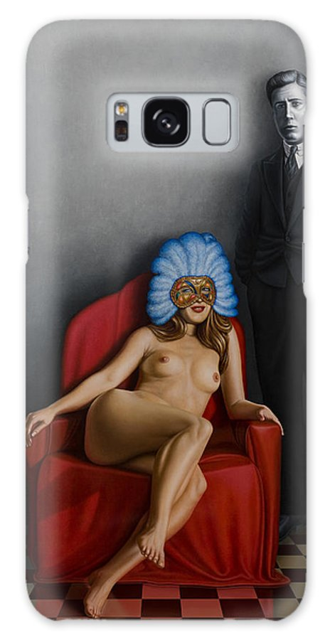 Nude Galaxy Case featuring the painting Beauty Of The Carnival by Horacio Cardozo