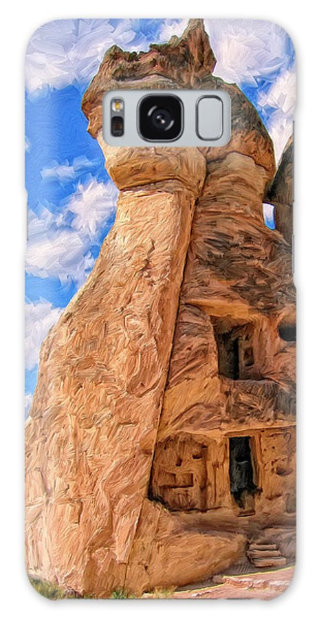 Bedrock Estates Galaxy S8 Case featuring the painting Bedrock Estates by Dominic Piperata