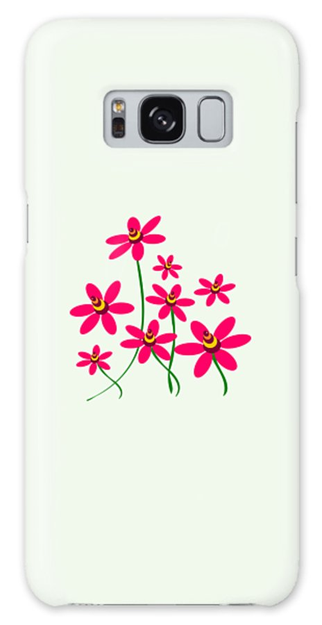 Abstract Galaxy S8 Case featuring the digital art Bee Flowers by Anastasiya Malakhova